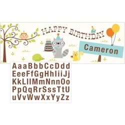 Happi Woodland Boy Party Giant Party Banner