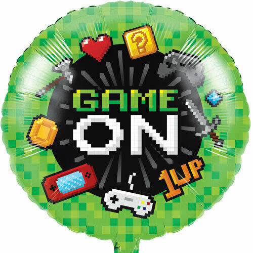 Gaming Holographic Birthday Party Foil Balloon