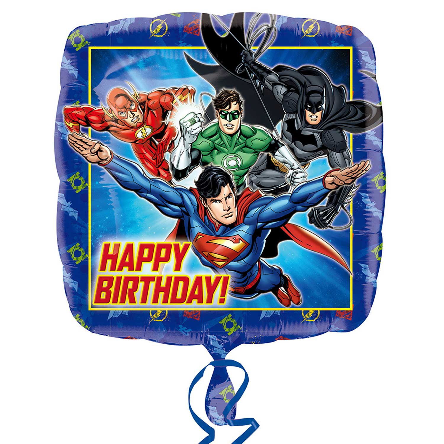 Justice League Party Foil Happy Birthday Balloon