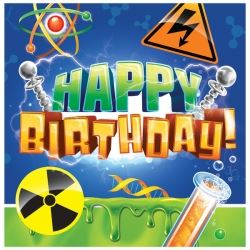 Mad Scientist Big Bang Theory Party Happy Birthday Napkins