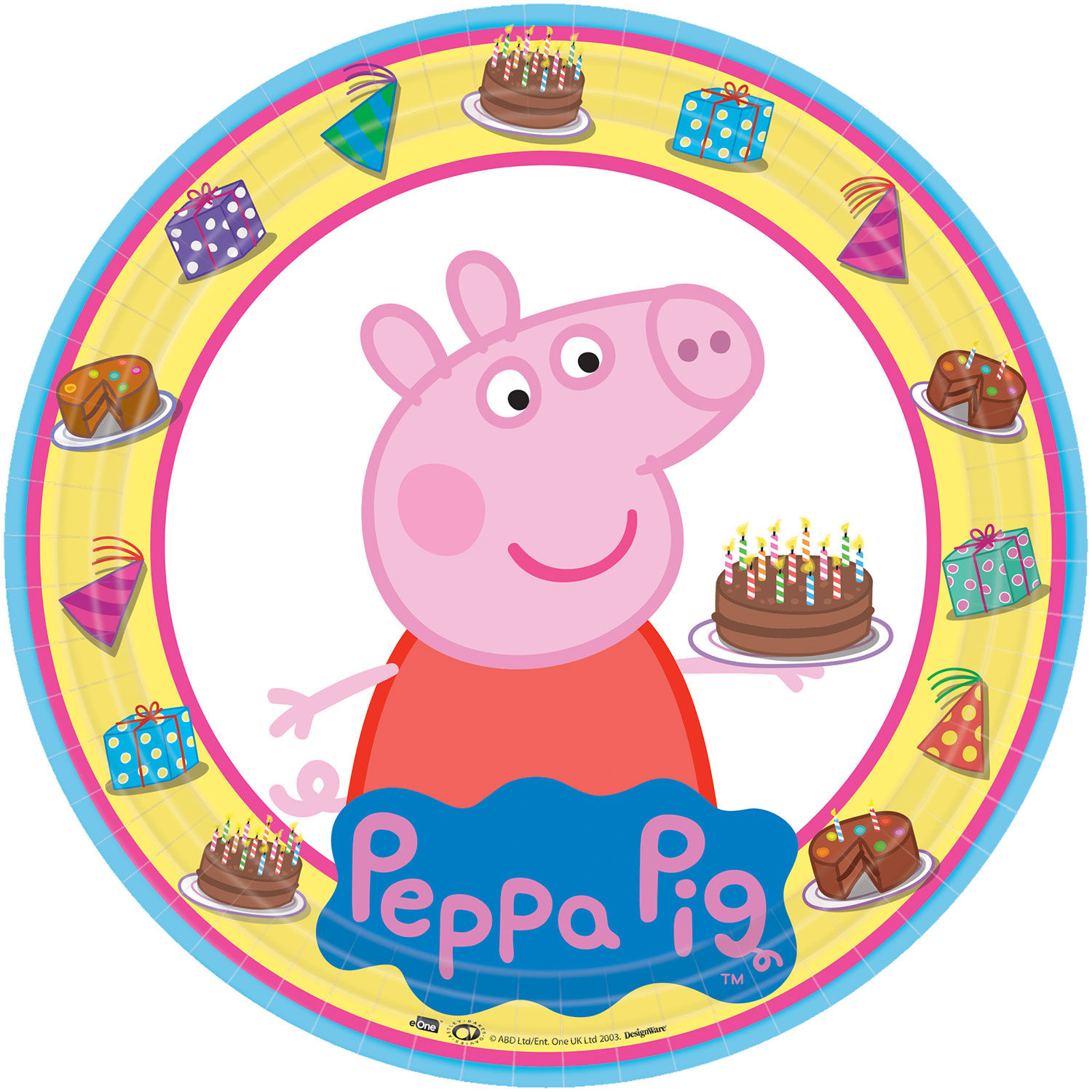 Peppa Pig Summer Party Plates