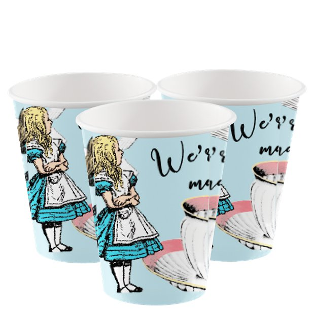 Truly Alice Mad Hatters Party Cups