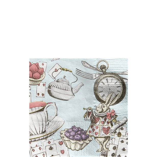 Truly Alice Mad Hatters Cocktail Party Napkins