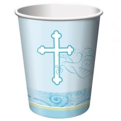 Faithful Dove Christening Boy Party Cups