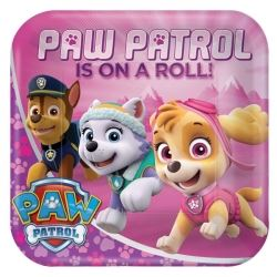 Paw Patrol Pink Party Plates