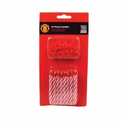 Manchester United Football Party Candles & Holders