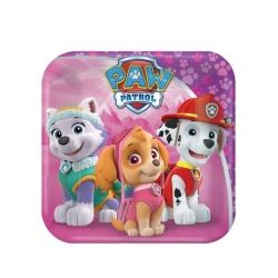 Paw Patrol Pink Lunch Plates
