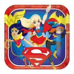 DC Super Hero Girl Party Plates