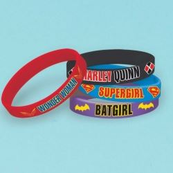 DC Super Hero Girl Party Favour Rubber Bracelets