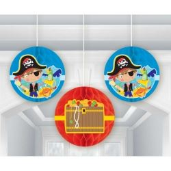 Little Pirate Honeycomb Party Decorations