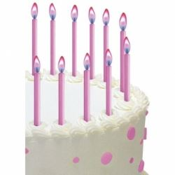 Pink Angel Flames Party Candles