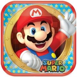 Super Mario Square Party Plates