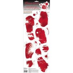 Foot Gore Bloody Foot Prints Halloween Decoration