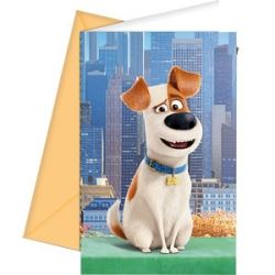 The Secret Life Of Pets Party Invitations