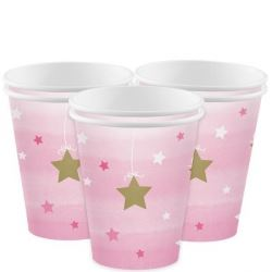 One Little Star Pink Party Cups