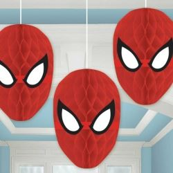Spiderman Party Honeycomb Decorations