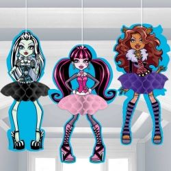Monster High Party Honeycomb Decorations