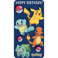 Pokemon Happy Birthday Card