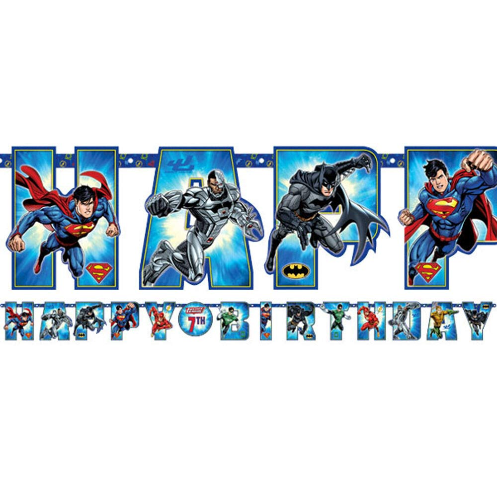 Justice League Party Jumbo Add An Age Banner
