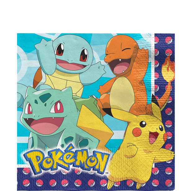 Pokemon Party Napkins