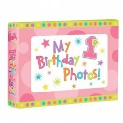 My First Birthday Baby Girl Photograph Album