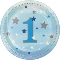 One Little Star Blue Lunch Party Plates