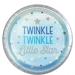 One Little Star Blue Party Plates