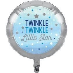 One Little Star Blue Party Foil Balloon