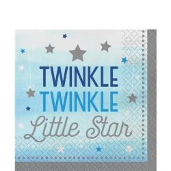 One Little Star Blue Party Napkins