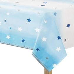 One Little Star Blue Party Tablecovers