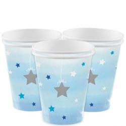 One Little Star Blue Party Cups