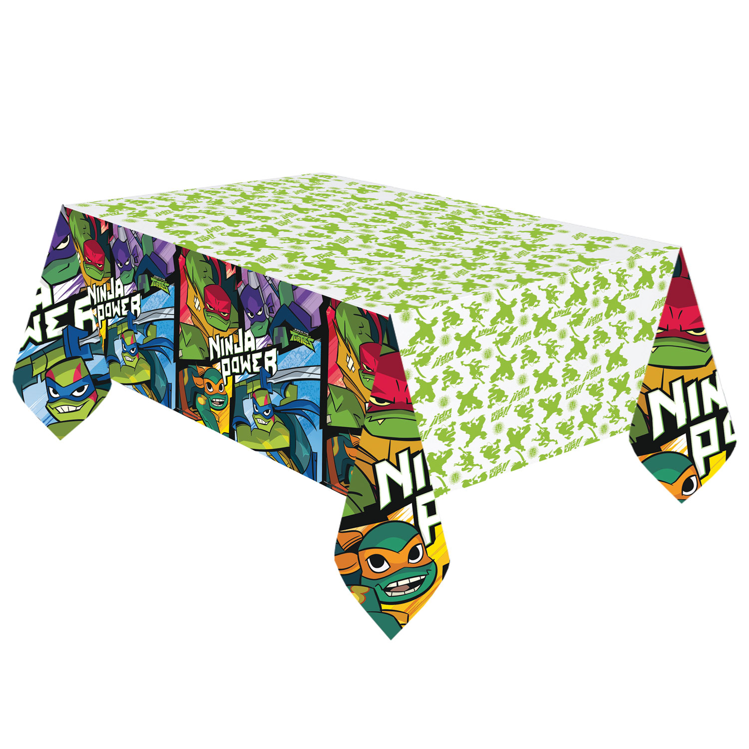 TMNT Ninja Turtles Half Shell Heroes Party Tablecover