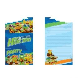 TMNT Ninja Turtles Half Shell Heroes Party Invitations