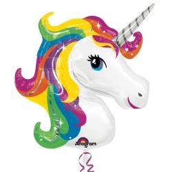 Rainbow Unicorn Supershape Party Foil Balloon