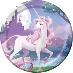 Unicorn Fantasy Party Lunch Plates