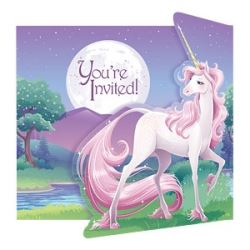 Unicorn Fantasy Party Invitations