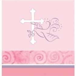 Faithful Dove Christening Girl Party Tablecover