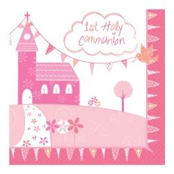 Communion Church Pink Party Napkins