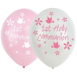 Communion Church Pink Party Balloons