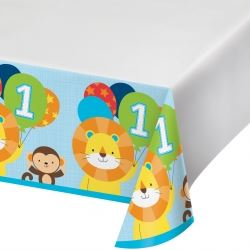 One Is Fun Jungle Boy Party Tablecovers