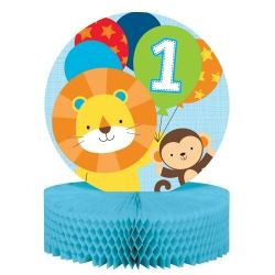 One Is Fun Jungle Boy Party Table Centrepiece