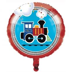 All Aboard Steam Train Party Foil Balloon