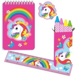 Rainbow Unicorn Party Favour Stationary Set Pack