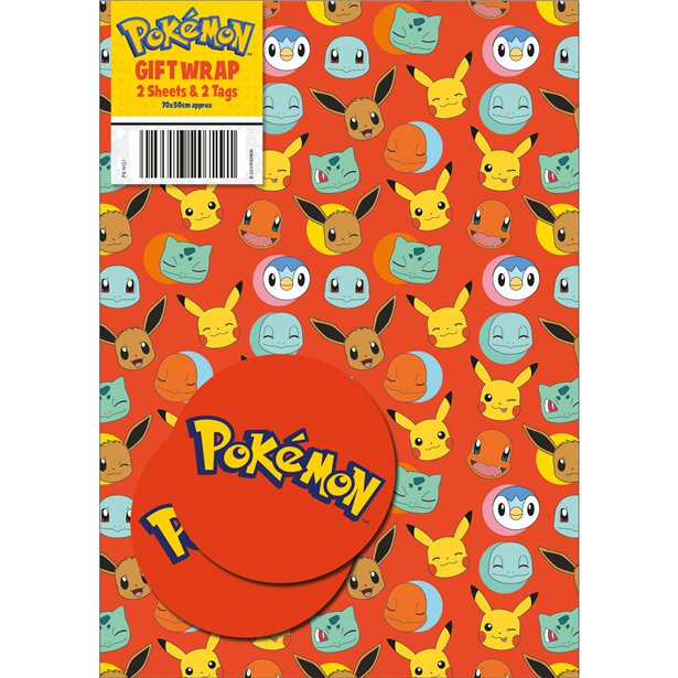 Pokemon Gift Wrap And Tags
