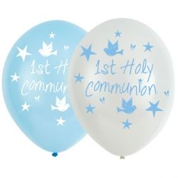 Communion Church Blue Party Balloons