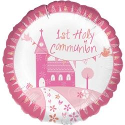 Communion Church Pink Party Foil Balloon