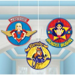 DC Super Hero Girls Party Honeycomb Decorations