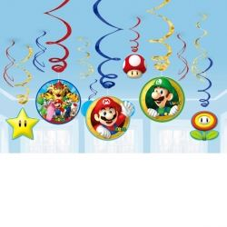 Super Mario Party Swirl Decorations