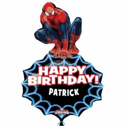 Spiderman Personalised SuperShape Foil Party Balloon