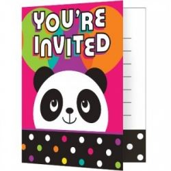 Panda - Monium Party Invitations